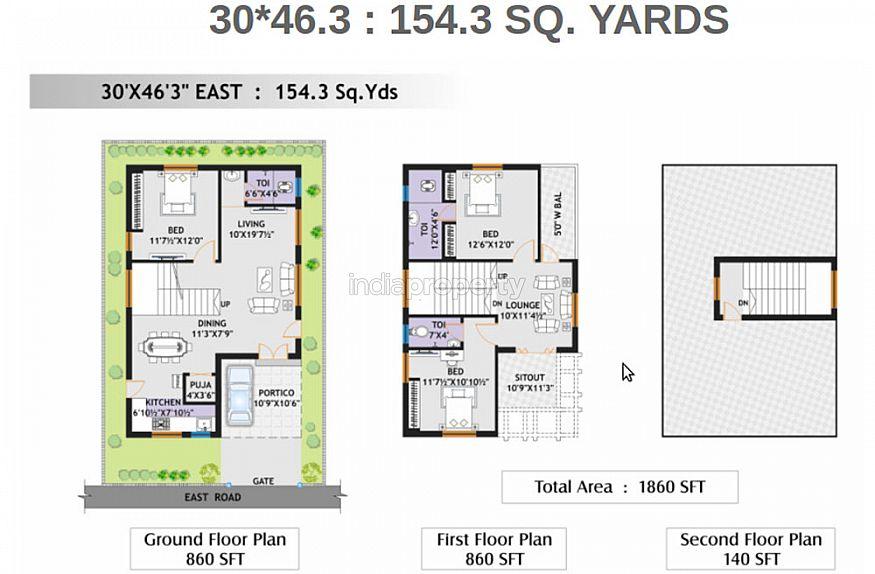 Durga homes phase 2 in chandanagar hyderabad by durga for 3000 sq ft gym layout