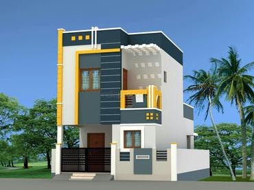 2 bhk builtup area 750 sq ft plot area 1100 sq ft for Individual house models in chennai
