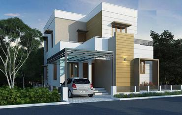 3 BHK | Builtup Area: 1200 Sq Ft & Plot Area: 4 Cents for 54